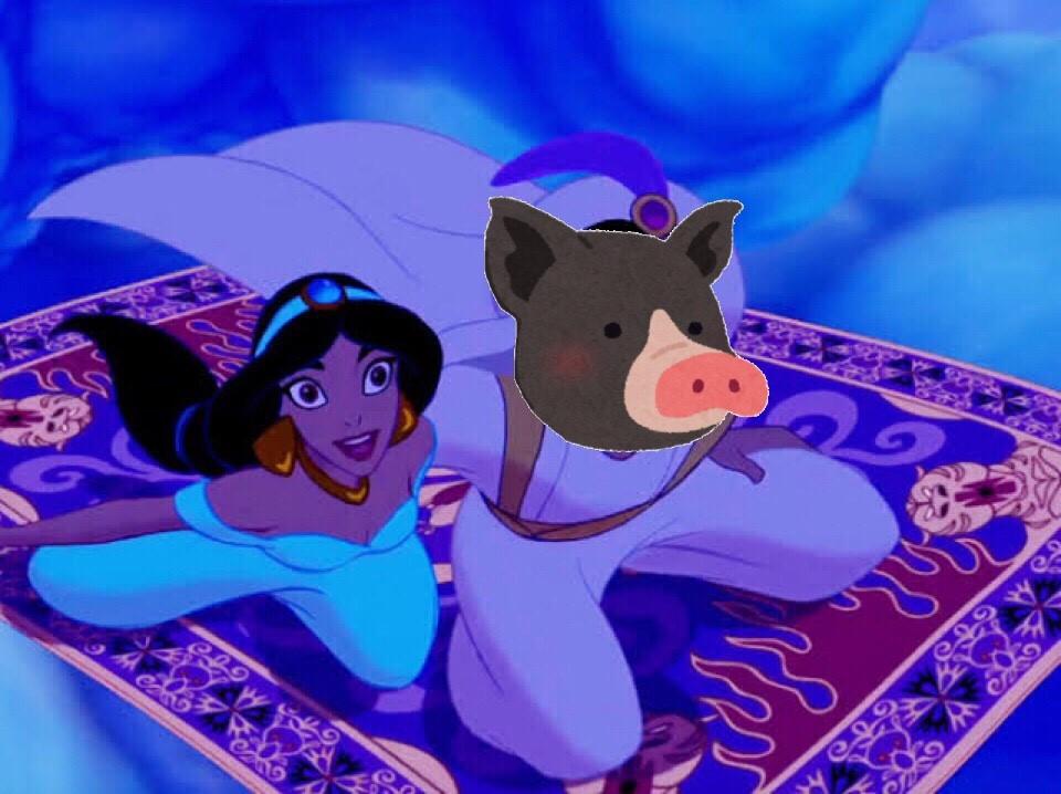 豚と魔法のランプ
